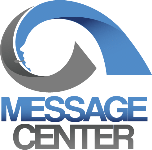A Message Center square logo